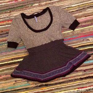 Free People Vintage Knit Peplum Top
